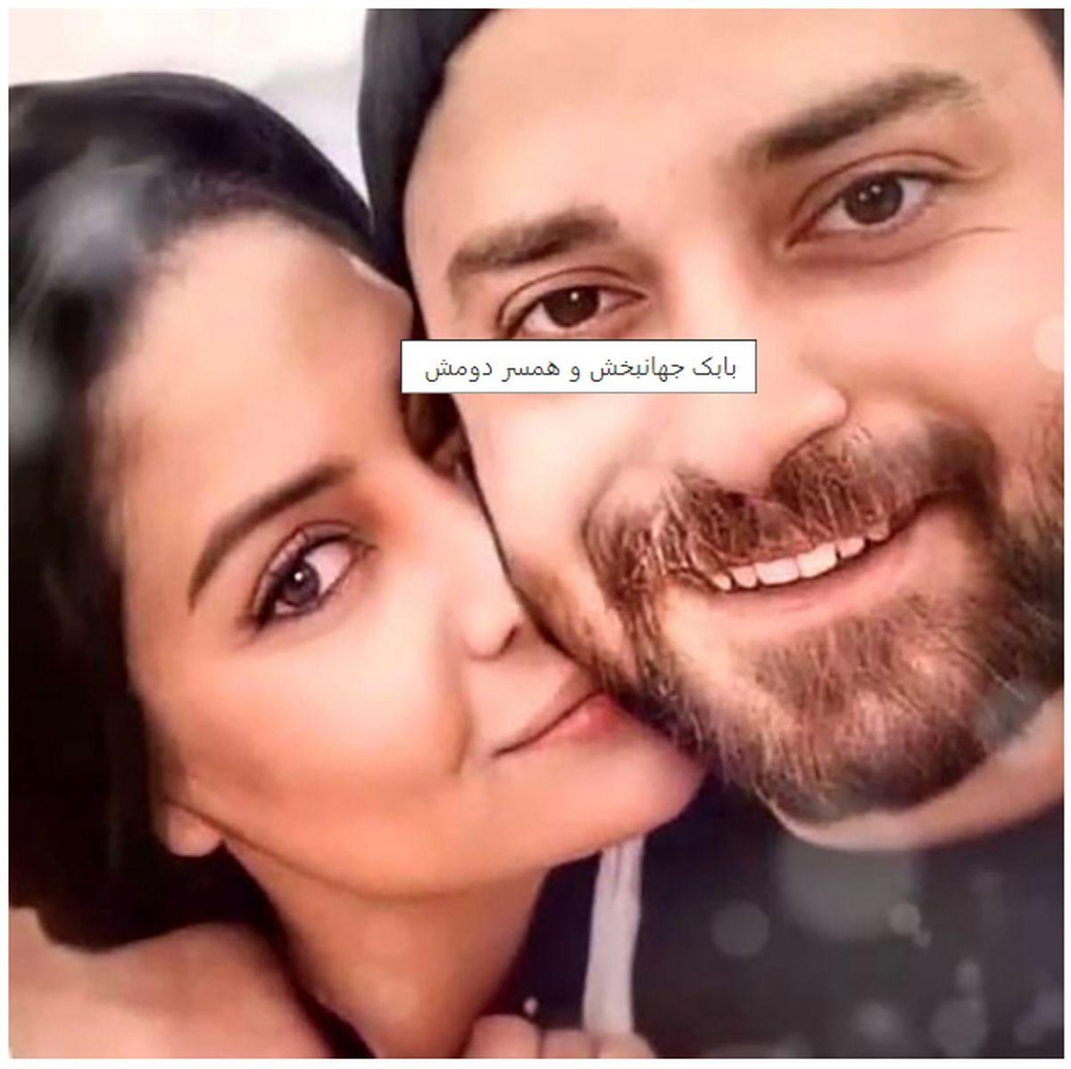 شام عاشقانه بابک جهانبخش و همسرش + عکس
