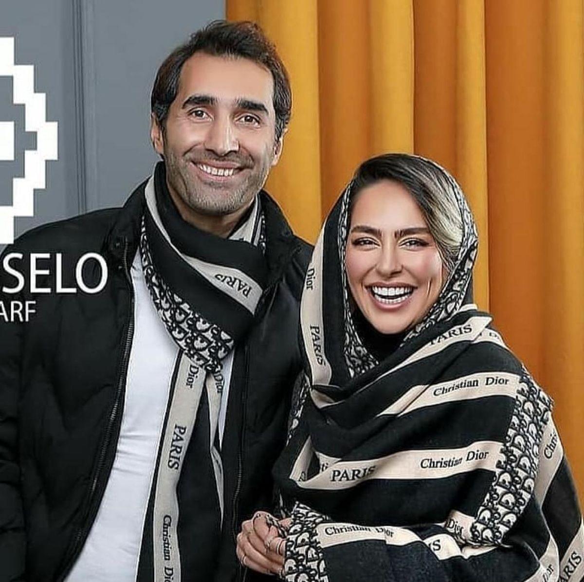 ست جذاب هادی کاظمی و سمانه پاکدل + عکس عاشقانه